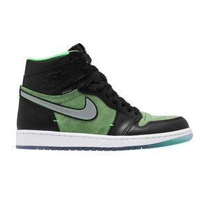 Jordan 1 Retro High Zoom CK6637002 Black Green NEW